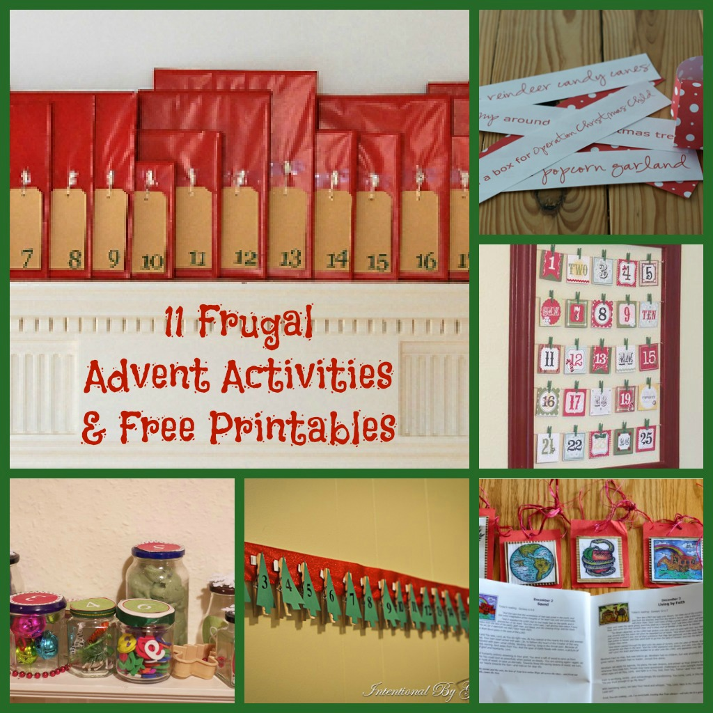 11 Frugal Advent Activities Amp Free Printables