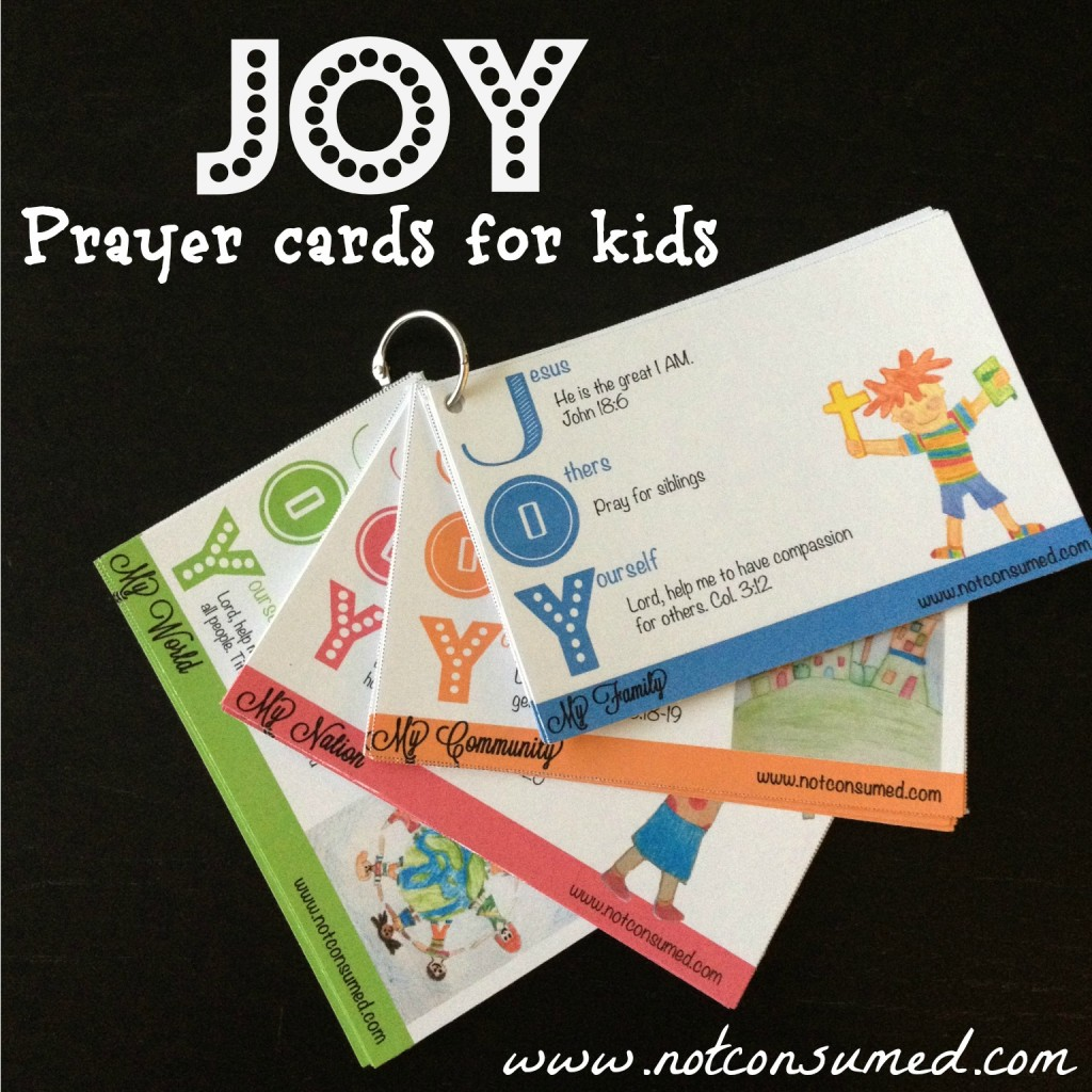 Free Joy Prayer Cards For Kids Download Two Days Only