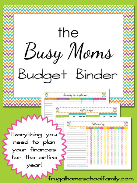 Family Free Binder Budget Printables