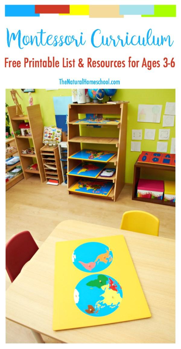 Free Printable List of Montessori Curriculum & Resources ...