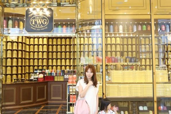 ★台北★101裡的TWG TEA茶沙龍,金光閃閃的早午餐、氣氛棒