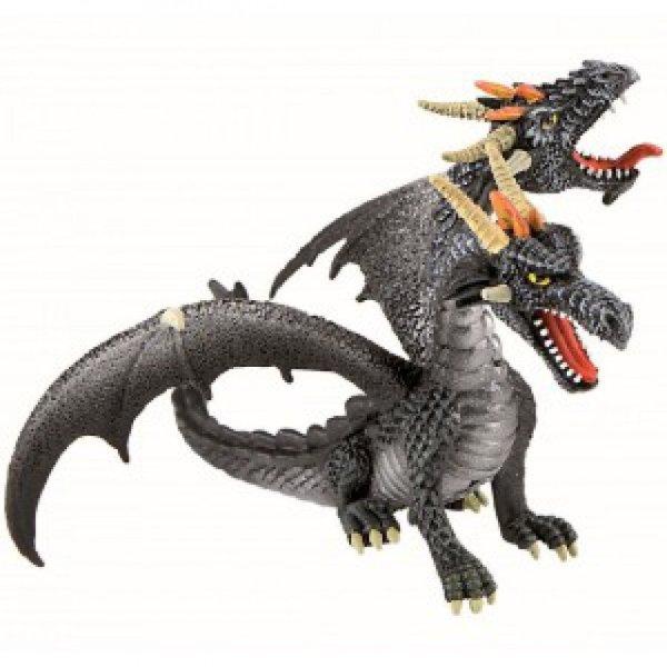 Игровая фигурка Bullyland Дракон с двумя головами металлик ...