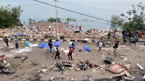 Approximately 400 people are killed in Indonesia due to the Tsunami