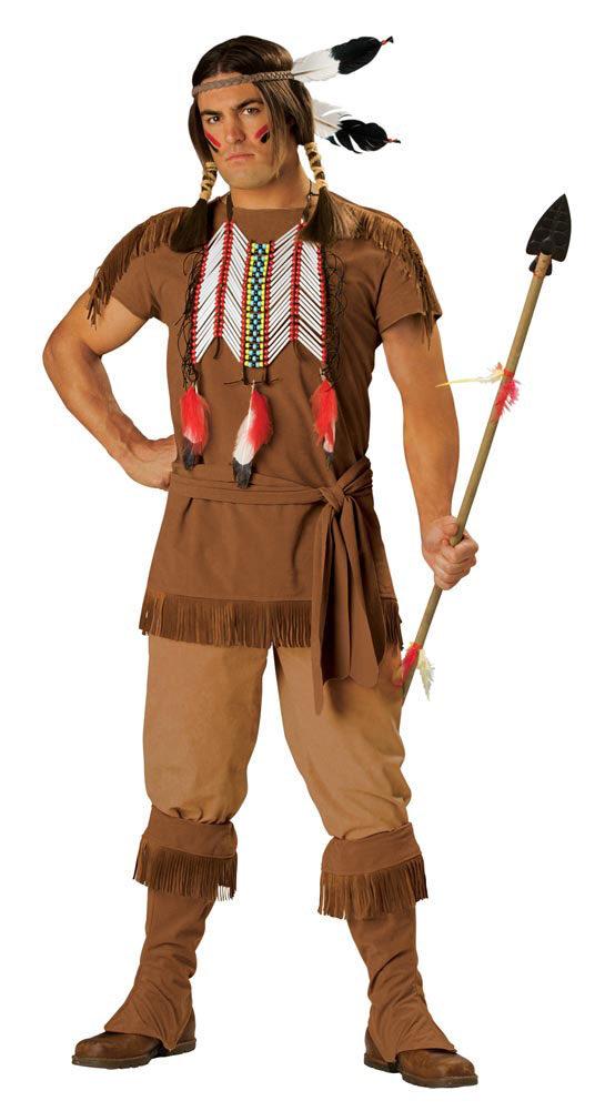 Elite Adult Indian Brave Costume Mr Costumes
