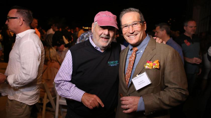 Marvin R. Shanken greets Alan Rubin of Alec Bradley.