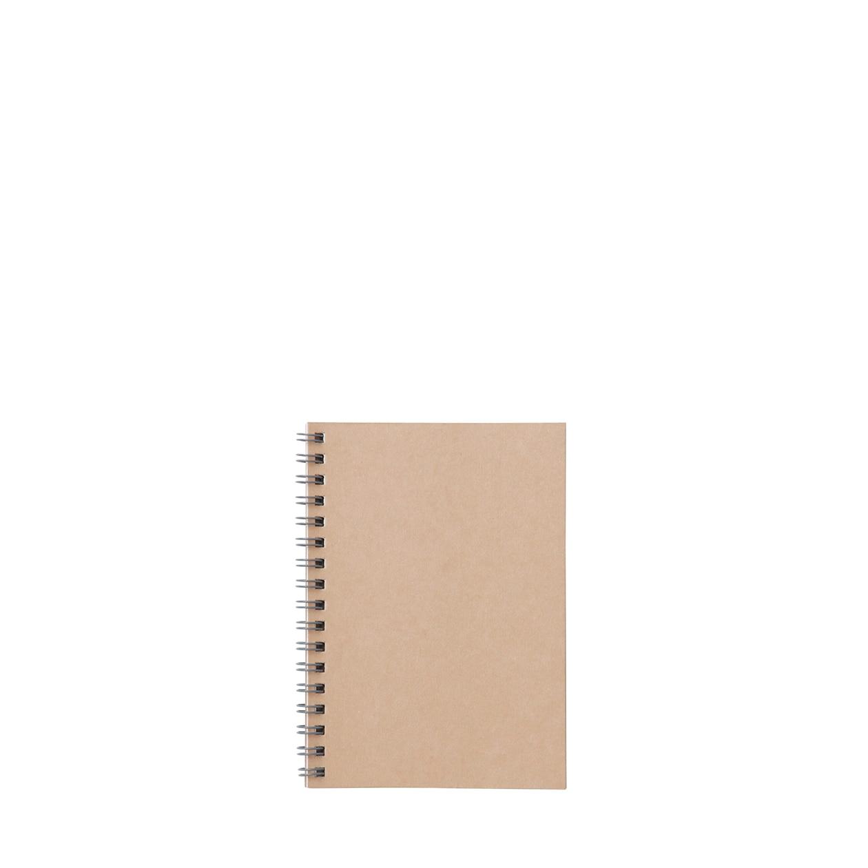 植林木不易透色雙環筆記本(橫線)/48頁 米A6   無印良品