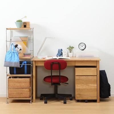 無垢材書桌/附抽屜/橡木 寬110×深55×高70cm   無印良品
