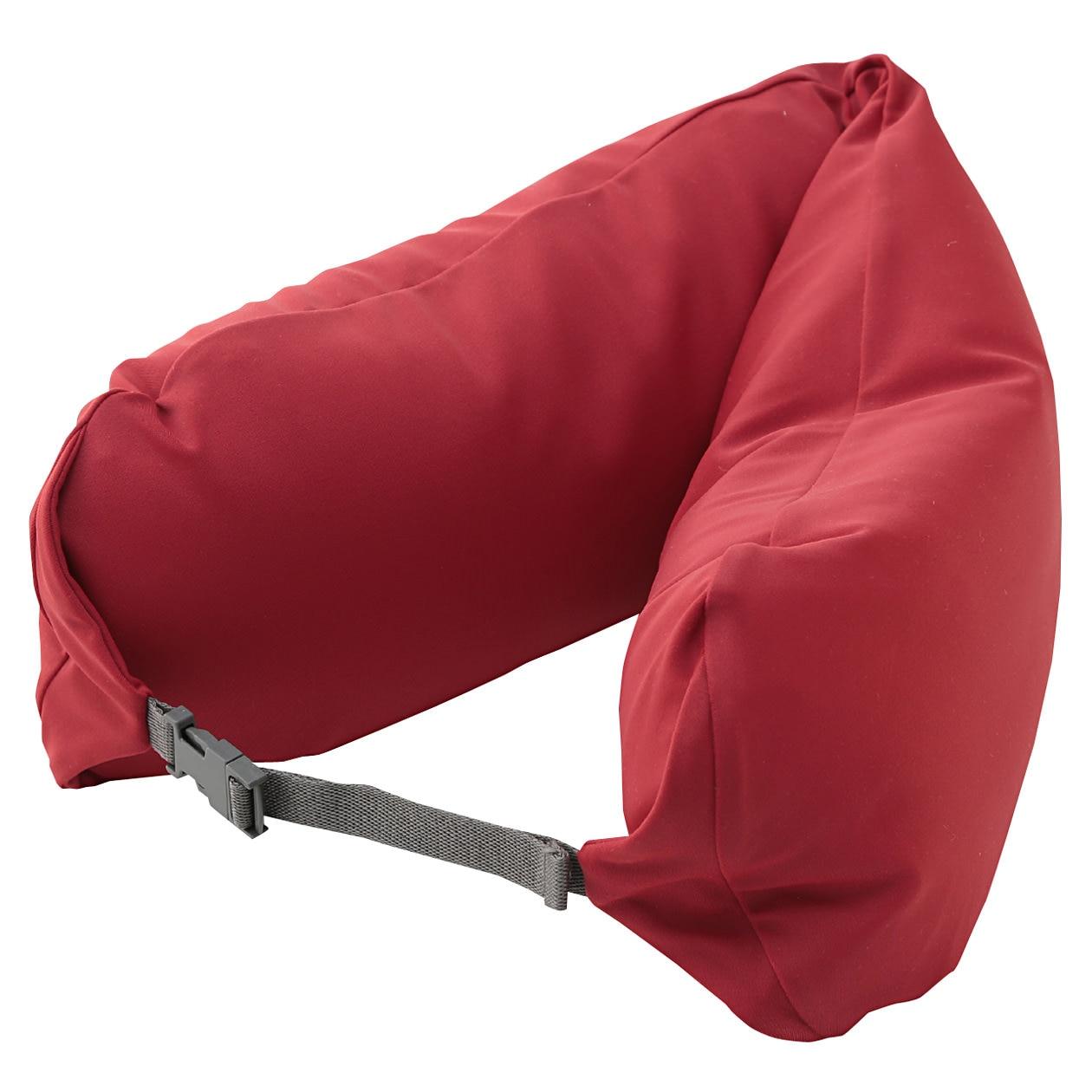 neck cushion red 16 5x67cm muji
