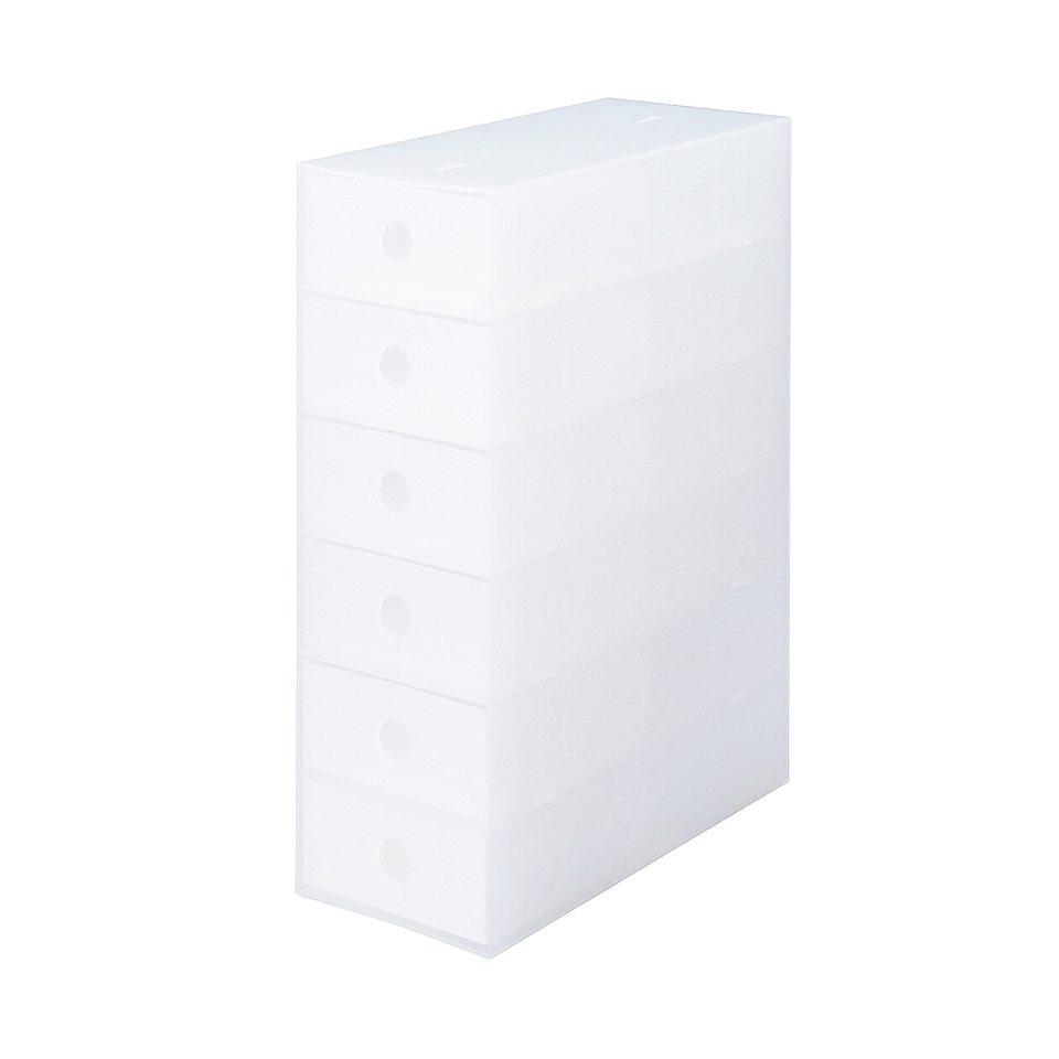 ポリプロピレン小物収納ボックス6段・A4タテ約幅11×奥行24.5×高