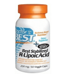 DOCTOR'S BEST Stabilized R-Lipoic Acid 200mg 60 kaps.