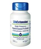 LIFE EXTENSION Optimized Folate 5000mcg 30 tab.