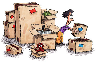 Cartoon moving out house - Cartoon moving out