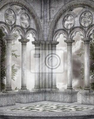 Descrizione carta da parati jungle con piante tropicali per una casa wild la carta da parati jungle con piante tropicali è una vera e propria esplosione d'allegria e di tonalità vibranti. Gothic Scenery 42 Wall Stickers Ruin Cathedral Gothic Myloview Com