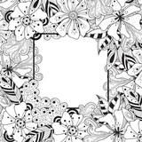 Doodle Blumen Nahtlose Muster Zentangle Stil Blumen Und
