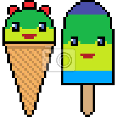 creme glacee de vecteur pixel art images myloview