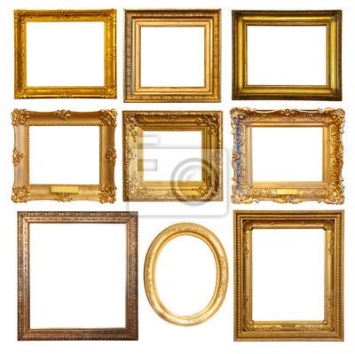 ensemble de cadre dore images myloview