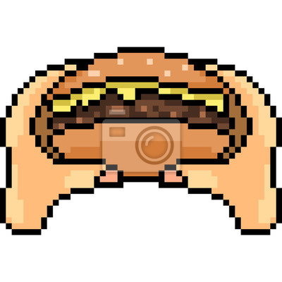 papiers peints vecteur pixel art manger burger