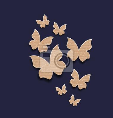 Visualizza altre idee su carta da parati, sfondi carini, sfondi. Sfondo Scuro Con Farfalle Fatte In Carta Cartone Carta Da Parati Carte Da Parati Ondulato Cartone Collezione Myloview It