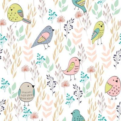 Beibehang personalizzato soggiorno sfondo parete 3d carta da parati wall sticker uccelli e fiori di pesco fiore 3d carta da parati behang,acquista da rivenditori in cina e in tutto il mondo. Vector Seamless Con Uccelli E Fiori Carta Da Parati Carte Da Parati Felice Emozione Vettore Myloview It