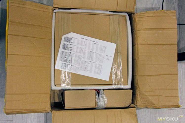внутри упаковки