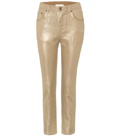 Exclusive to mytheresa.com ? metallic cropped jeans