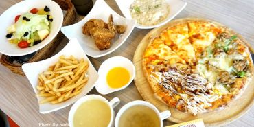 【美食♔台南東區】Double Cheese(台南成大店)。「聚餐好所在」C/P值頗高的吃到飽~手工窯烤義式披薩,還有義式料理、炸物可選擇
