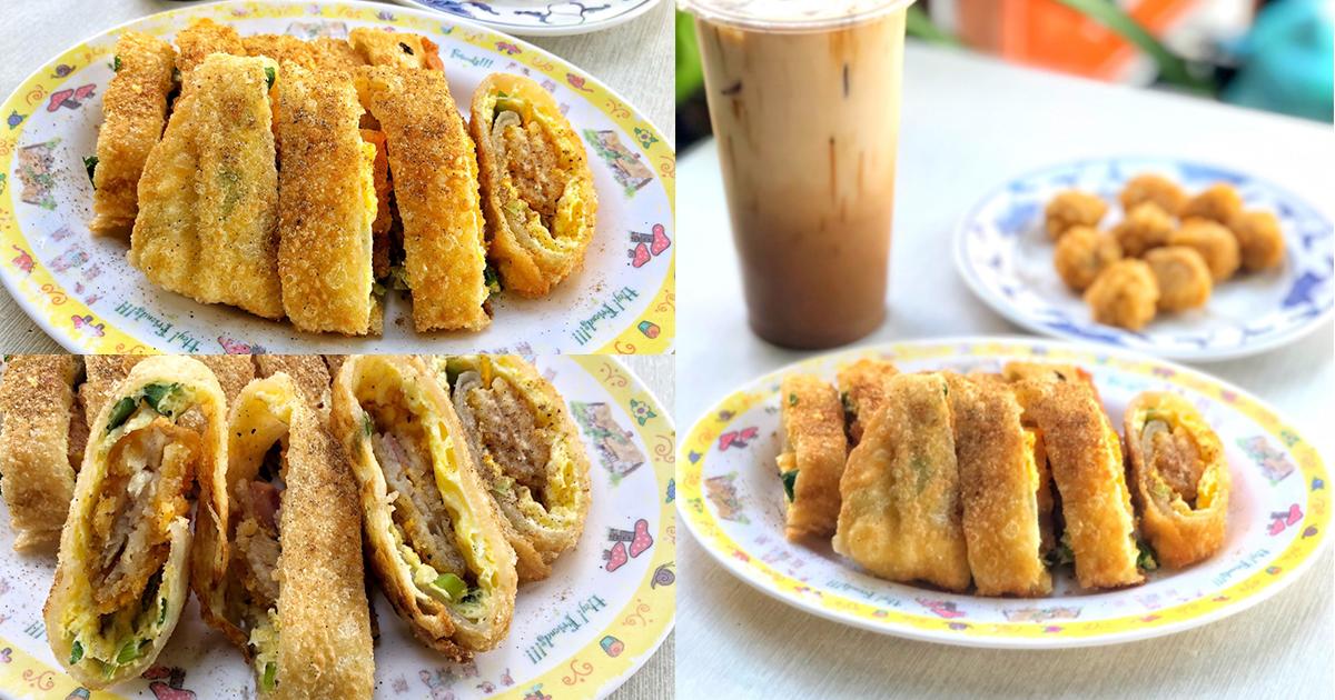 嫩江街超人氣酥脆餅皮好吃蛋餅,大份量超滿足之老店傳統早餐|藍鯨早餐店