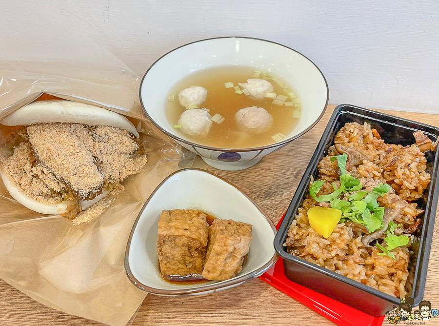 台式早午餐美食推薦必吃 伍•伴 油飯 刈包,用料實在好吃夠味