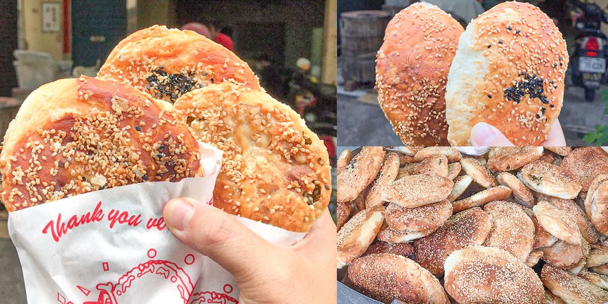 酥脆層次芝麻飄香超過15年 阿英上海烤燒餅,鹹甜口味都能滿足饕客