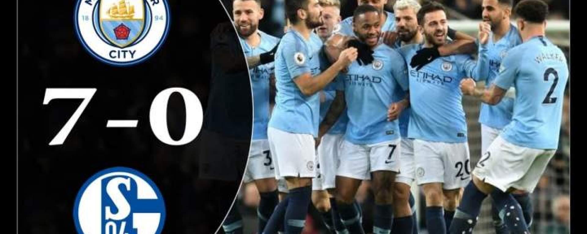 Risultati immagini per Manchester City 7:0 Schalke