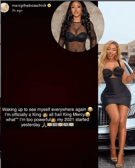 """You are typing in the nonsense again"" - Mercy Eke dragged for calling herself 'powerful king'"