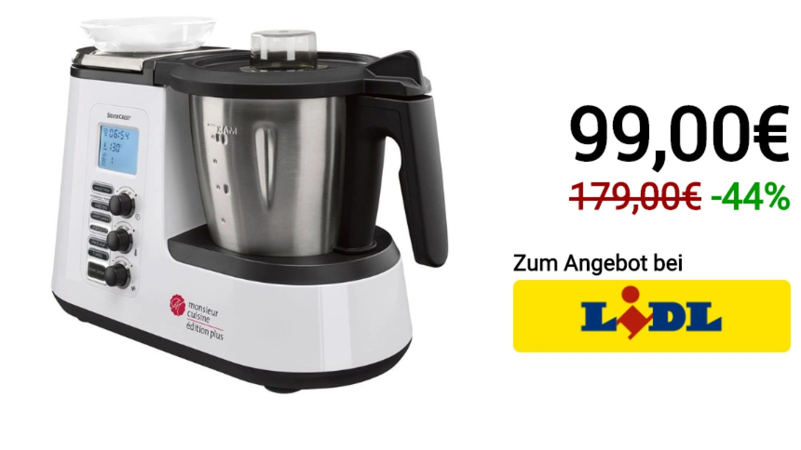 monsieur cuisine plus fur 99 euro bei