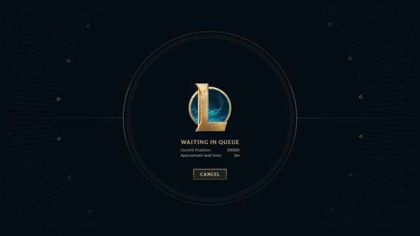 In League of Legends, there is a problem with the server connection.