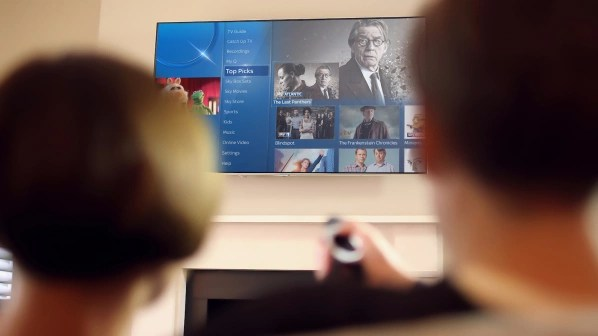 Sky Q combines pay-TV, free-TV and app content under one user interface.