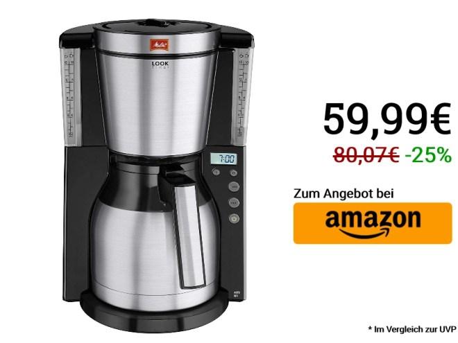 Melitta Look Therm Timer 1011-16, Filterkaffeemaschine im Cyber Monday Deal bei Amazon.