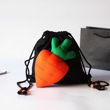 1-6 Years Old Children Kids Cartoon Canvas Backpack Drawstring Outdoor Shoulder Bag