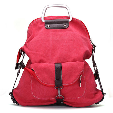 Casual Canvas Multipurpose Multi-pockets Backpack Shoulder Bag Backpack For Women