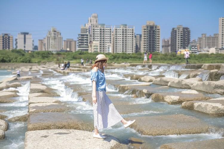 新竹景點‧頭前溪豆腐岩|IG打卡熱點~拍出盛夏日系小清新
