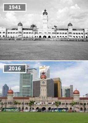 Как время меняет знаменитые достопримечательности. Фото
