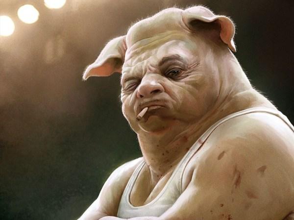 Генетик утверждает, что человек - плод любви свиньи и шимпанзе