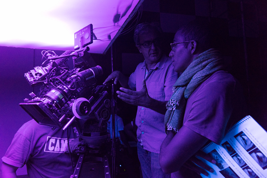 """""""ULTRAVIOLET"""" short film set photograph, featuring Marc Johnson (Director), Guillaume Brault (DOP), courtesy of Marc Johnson, UMOON Production Thailand and Fulldawa Films, photo credit: Martin Reeves"""