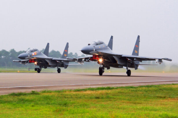 Chinese SU-30 fighter jets take off