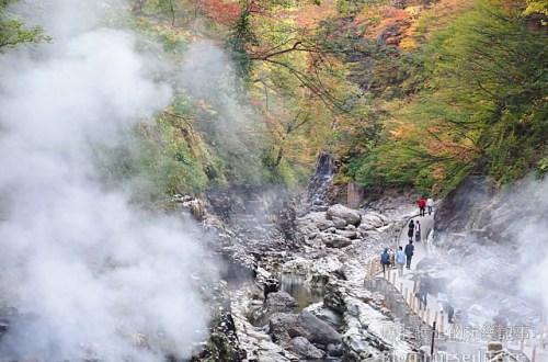 【日本賞楓】東北秋田紅葉景點 小安峽大噴湯 Oyasu-kyo Ravine Daifuntou