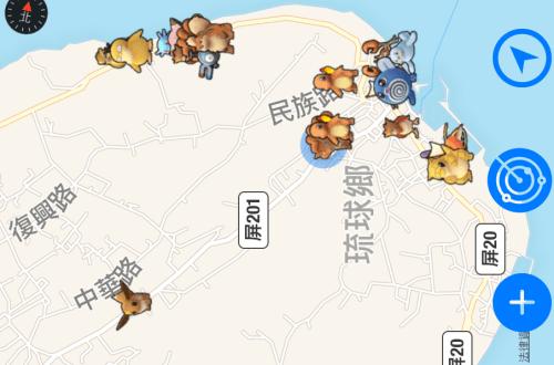 小琉球寶可夢尋寶地圖|最強寶可夢–卡比獸、乘龍、快龍、水精靈、六尾、皮卡丘、喵喵全在這!