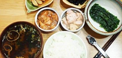 超市烤雞罐頭.日式餐桌風情營造中
