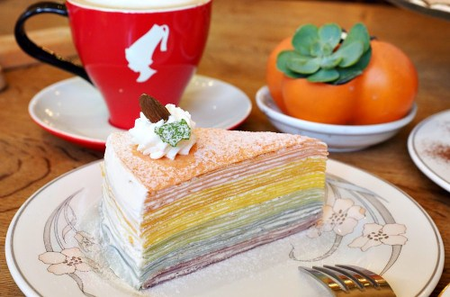 Amin's Creperie 巴黎薄餅|天母南法風情餐館.限量彩虹千層吸睛又療癒