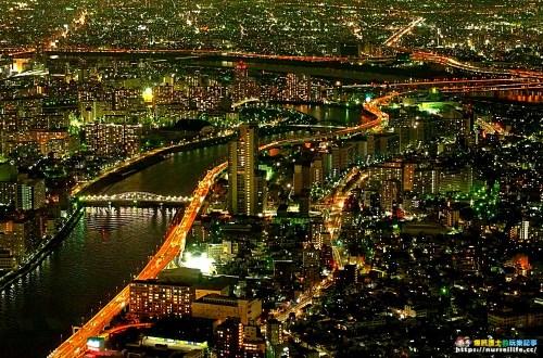 東京 Tokyo Sky Tree 晴空塔展望台.從450公尺俯望浪漫的高空夜景