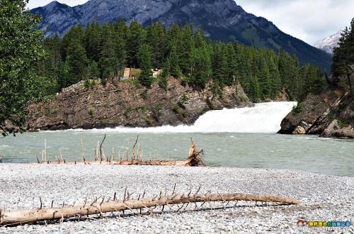 加拿大|弓河瀑布 Bow Falls.大江東去景色依舊
