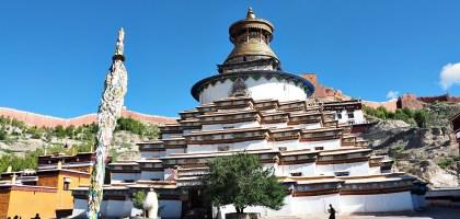 中國、西藏 日喀則白居寺.十萬佛塔十萬心