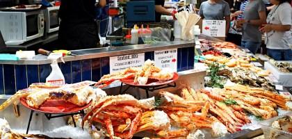 大阪黑門市場:海鮮丼、壽司、黑毛和牛、烤龍蝦、新鮮哈密瓜,吃飽吃滿再離開!